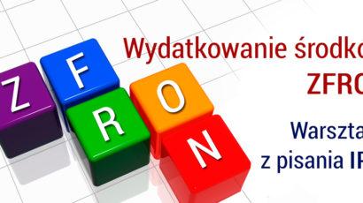 Wydatkowanie ZFRON. Warsztaty z pisania IPR – cykl szkoleń