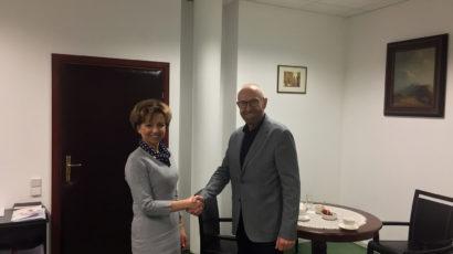 Spotkanie Zarządu POPON z Prezesem Zarządu PFRON Panią Marleną Maląg