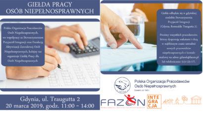 Giełda Pracy POPON w Gdyni – 20 marca, w godz. 11.00-14.00