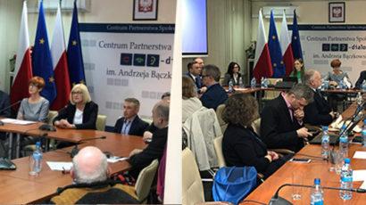 Trwa Krajowa Rada Konsultacyjna ds Osób Niepełnosprawnych. W posiedzeniu bierze udział Anna Węgrzynowicz Dyrektor ds Organizacyjnych POPON