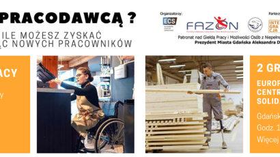Zapraszamy na II Trójmiejską Giełdę Pracy i możliwości dla osób z niepełnosprawnościami – 2 grudnia