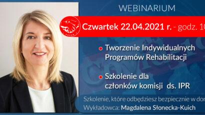 Szkolenie online – Tworzenie Indywidualnych Programów Rehabilitacji – 22.04.2021