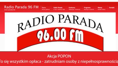 """Anna Węgrzynowicz o Akcji POPON """",To się wszystkim opłaca-zatrudniam osoby z niepełnosprawnością"""" w Radiu Parada"""